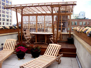 Rooftop Pergola No Rp2 By Trellis Structures